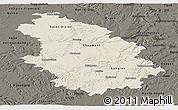 Shaded Relief Panoramic Map of Haute-Marne, darken