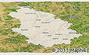 Shaded Relief Panoramic Map of Haute-Marne, satellite outside
