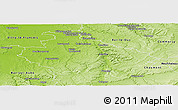 Physical Panoramic Map of Saint-Dizier