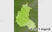 Physical Map of Champagne-Ardenne, darken