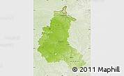Physical Map of Champagne-Ardenne, lighten