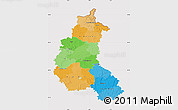 Political Map of Champagne-Ardenne, cropped outside
