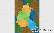 Political Map of Champagne-Ardenne, darken