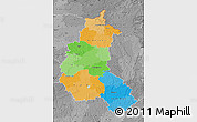 Political Map of Champagne-Ardenne, desaturated