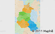 Political Map of Champagne-Ardenne, lighten
