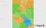 Political Map of Champagne-Ardenne, political shades outside