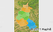 Political Map of Champagne-Ardenne, satellite outside