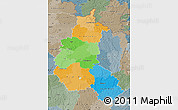 Political Map of Champagne-Ardenne, semi-desaturated