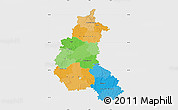 Political Map of Champagne-Ardenne, single color outside