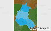 Political Shades Map of Champagne-Ardenne, darken