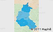 Political Shades Map of Champagne-Ardenne, lighten