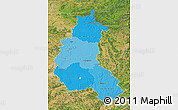 Political Shades Map of Champagne-Ardenne, satellite outside