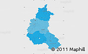 Political Shades Map of Champagne-Ardenne, single color outside
