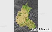 Satellite Map of Champagne-Ardenne, darken, desaturated