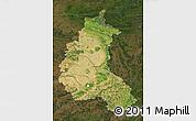 Satellite Map of Champagne-Ardenne, darken