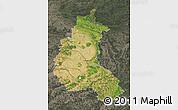 Satellite Map of Champagne-Ardenne, darken, semi-desaturated