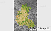 Satellite Map of Champagne-Ardenne, desaturated