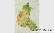 Satellite Map of Champagne-Ardenne, lighten