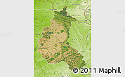 Satellite Map of Champagne-Ardenne, physical outside