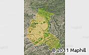 Satellite Map of Champagne-Ardenne, semi-desaturated