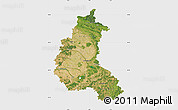 Satellite Map of Champagne-Ardenne, single color outside