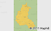 Savanna Style Map of Champagne-Ardenne, single color outside