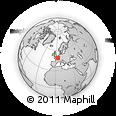Outline Map of Épernay