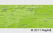 Physical Panoramic Map of Épernay