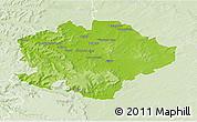 Physical 3D Map of Reims, lighten