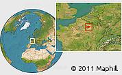 Satellite Location Map of Reims