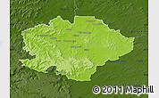 Physical Map of Reims, darken