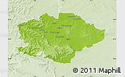 Physical Map of Reims, lighten