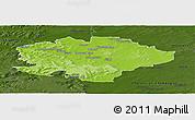 Physical Panoramic Map of Reims, darken