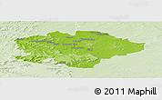 Physical Panoramic Map of Reims, lighten