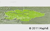 Physical Panoramic Map of Reims, semi-desaturated