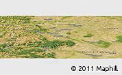 Satellite Panoramic Map of Reims