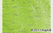 Physical Map of Sainte-Menehould