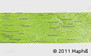 Physical Panoramic Map of Sainte-Menehould