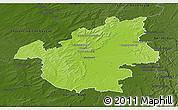 Physical 3D Map of Vitry-le-François, darken