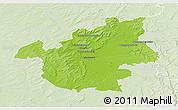 Physical 3D Map of Vitry-le-François, lighten