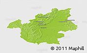 Physical 3D Map of Vitry-le-François, single color outside