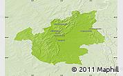Physical Map of Vitry-le-François, lighten