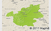 Physical Map of Vitry-le-François, shaded relief outside