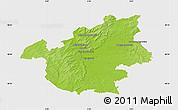 Physical Map of Vitry-le-François, single color outside
