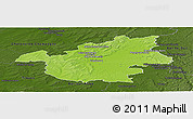 Physical Panoramic Map of Vitry-le-François, darken
