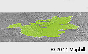 Physical Panoramic Map of Vitry-le-François, desaturated