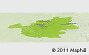 Physical Panoramic Map of Vitry-le-François, lighten