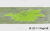 Physical Panoramic Map of Vitry-le-François, semi-desaturated