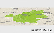 Physical Panoramic Map of Vitry-le-François, shaded relief outside