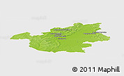 Physical Panoramic Map of Vitry-le-François, single color outside